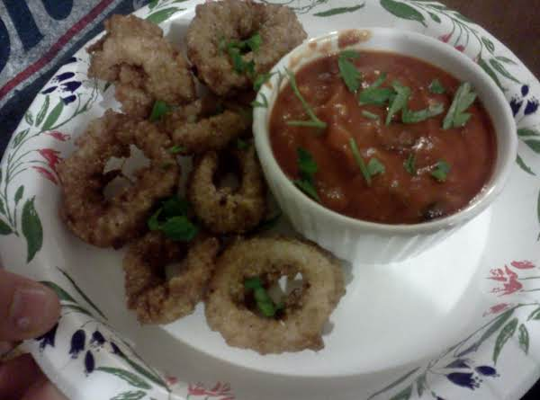 Fried Calamari  With Two Dipping Sauces