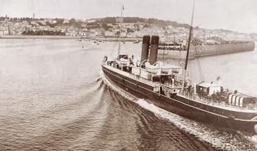 "Photo: ss ""Ibex"" at St. Peter Port (from collection A.M.S. Russell)"