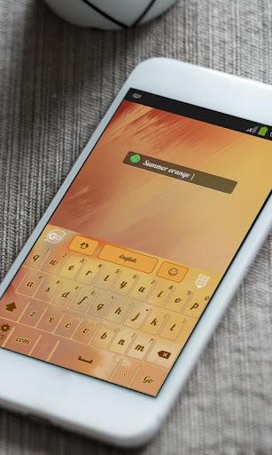 玩免費個人化APP 下載サマーオレンジ GO Keyboard app不用錢 硬是要APP