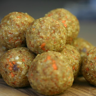 Carrot And Sunflower Seed Energy Balls.