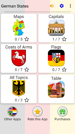 German States - Flags, Capitals and Map of Germany 2.1 screenshots 3