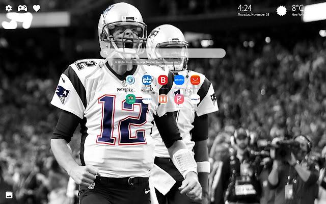 Tom Brady Patriots Wallpaper HD New Tab