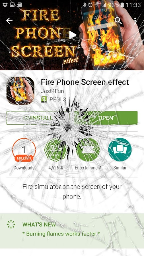 Crack your mobile screen- screenshot