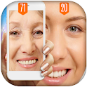 Face age recognition scanner icon