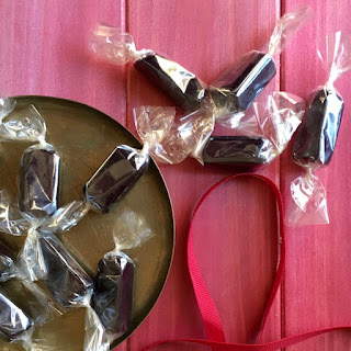 Buttery Black Licorice Caramels.