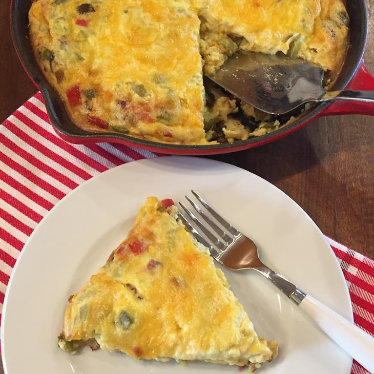 Crustless Fajita Quiche Recipe