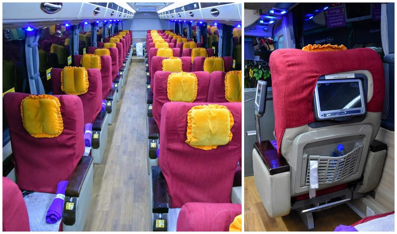 transporte en Myanmar bus