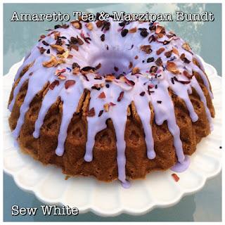 Amaretto Tea and Marzipan Bundt Cake