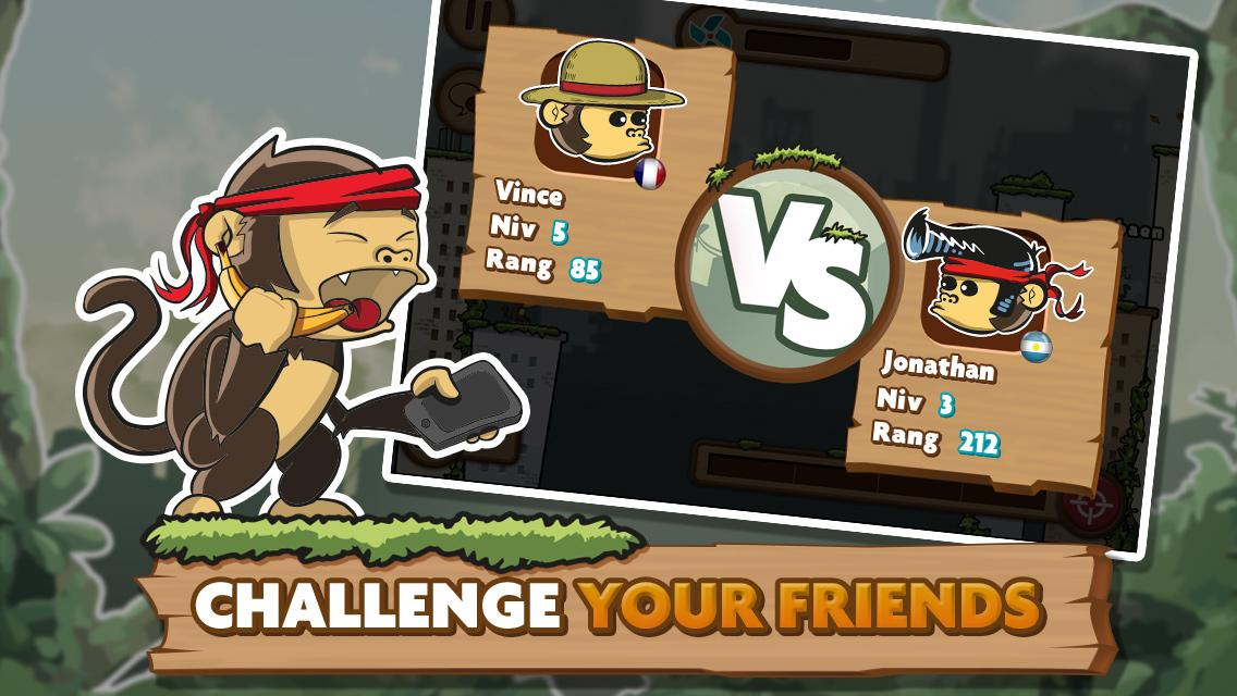 Monkey Duel: Turn-Based Shoot- screenshot