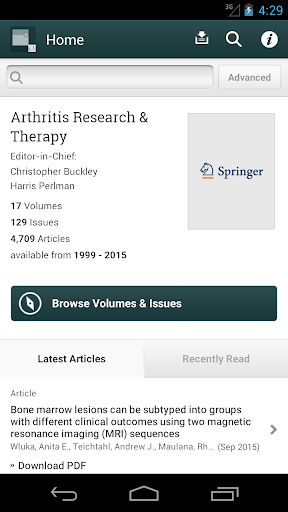 Arthritis Research Therapy