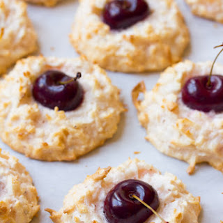 Cherry Kissed Coconut Macaroons
