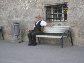 Photo: This fellow was working as a carriage driver, but many Germans dress in traditional styles.