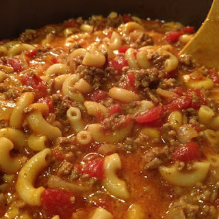 Best Ever Cheesy American Goulash.
