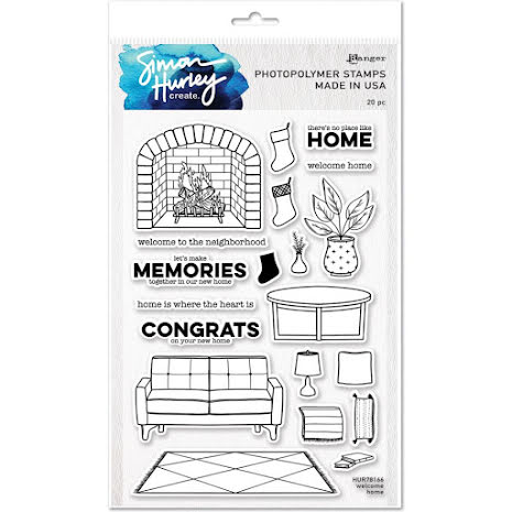 Simon Hurley create. Clear Stamps 6X9 - Welcome Home