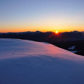 mountain sunrise by Renata Peterman - Landscapes Mountains & Hills ( mountain, sunrise, landscape, morning, spring )