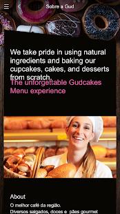 Menu Gudcakes - náhled