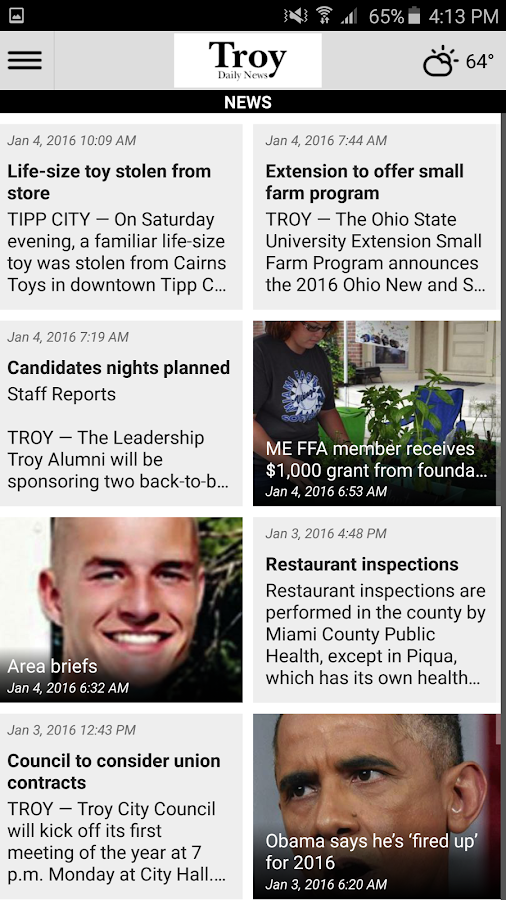 Troy Daily News- screenshot