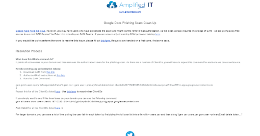 Google Docs Phishing Scam Fix