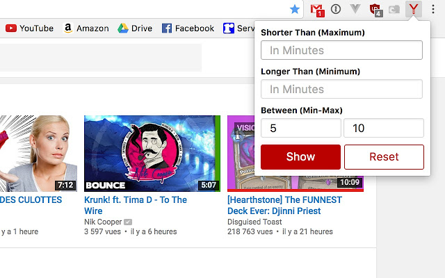 Youtube pickalen chrome web store filter youtube videos by length ccuart Choice Image