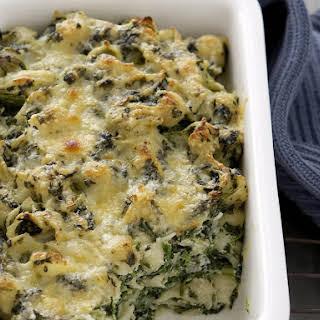 Creamy Spinach Pasta Casserole.