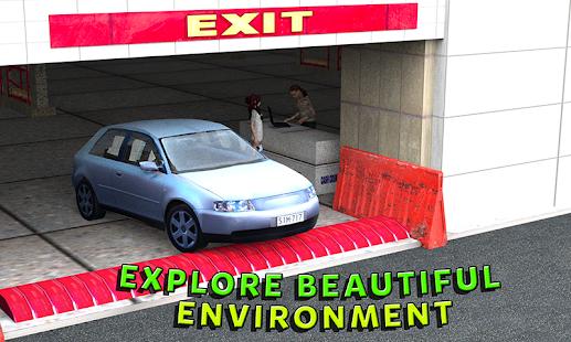 Drive-through supermarket car - náhled