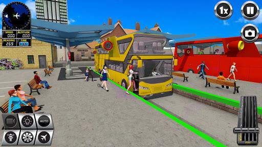 Flying Bus Driving simulator 2019: Free Bus Games screenshots apkshin 1