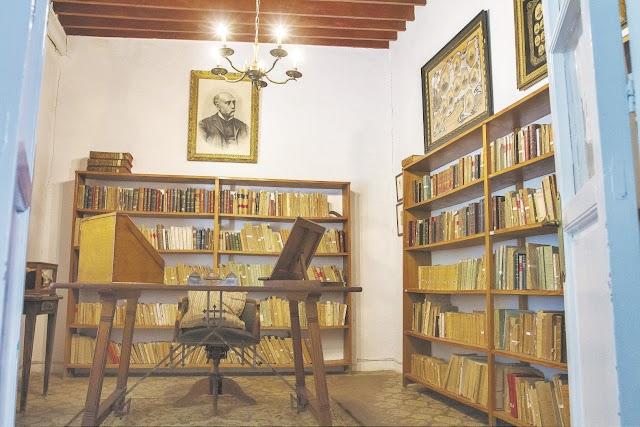 La biblioteca doméstica del que fuera presidente de la I República.