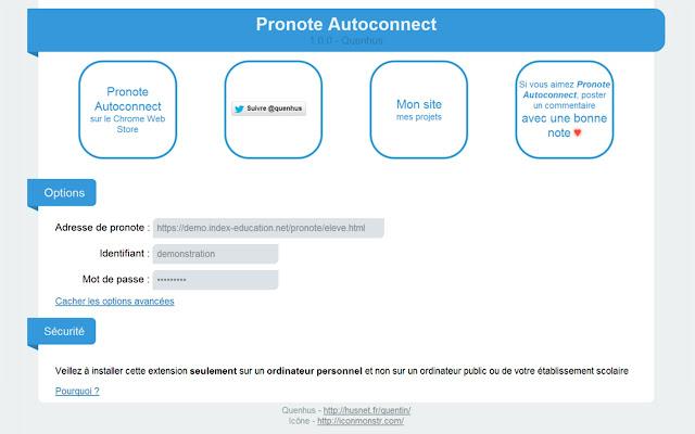 Pronote Autoconnect