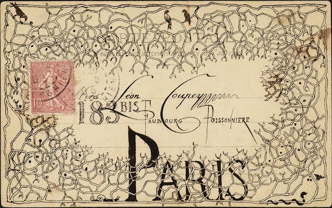 <p> <strong>L&eacute;on Coupey<br /> To Mrs L&eacute;on Coupey (Paris)</strong><br /> Ink on card<br /> 3 &frac12;&quot; x 5 &frac12;&quot;<br /> 1905</p> <p> Collection Joy Coupey, Toronto<br /> Set 6.7&nbsp;</p>