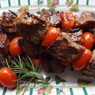 Grilled Beef Tips in a Savory Marinade.
