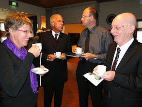Photo: Van links naar rechts: Marleen Ruitenburg, dominee Mink, Alex Ruitenburg en dominee Broekman.