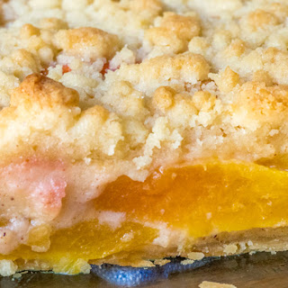 Custard Peach Pie.