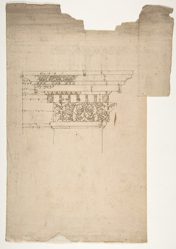 Arch of Septimius Severus, ornamental cornice and pilaster (recto) Arch of Septimius Severus, cornice with ornamental frame moulding (verso)