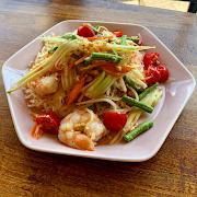Prawn+Papaya Noodle Salad (CONTAINS PEANUTS)