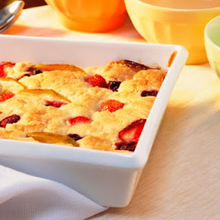 Magic Floating Crust Fruit Cobbler