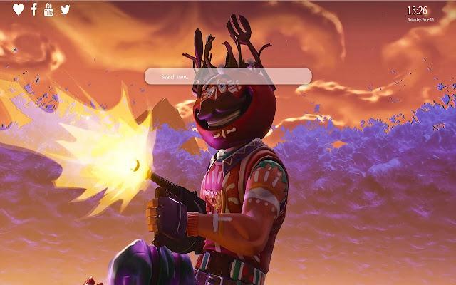 Tomato Head Fortnite Google Chrome Theme