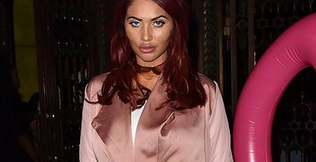 Amy Childs had stitches after birth