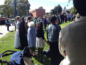 Photo: At ceremony for Feather, murdered