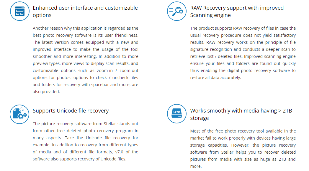 features of Stellar Phoenix Photo Recovery