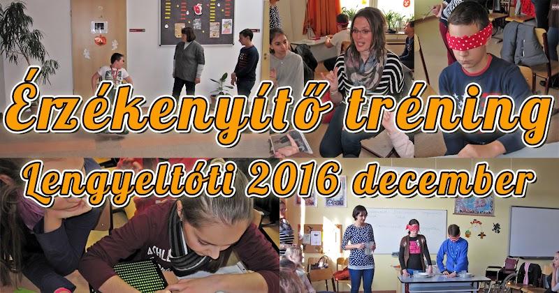 Érzékenyítő tréning Lengyeltóti 2016 december
