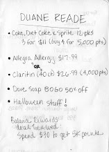 Photo: I made this shopping list after identifying products in the online circular that were on sale, or offered a lot of rewards points.
