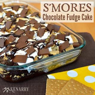 S'Mores Chocolate Fudge Cake Recipe