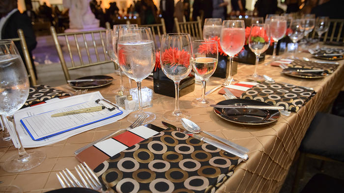 Amistad Center for Art and Cultural 2014 Fall Gala Earth Tone Tablescape
