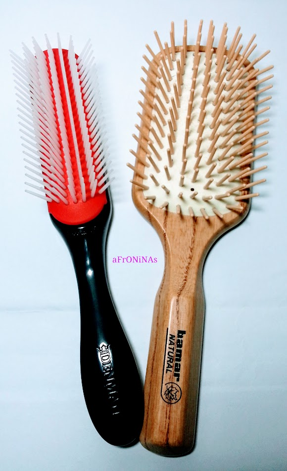 Denman Brush y Paddle Brush cabello afro natural rizado