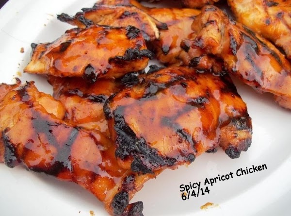 Grilled Spicy Apricot Chicken - Delish!! Recipe