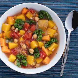Fall Vegetable Soup with Quinoa.