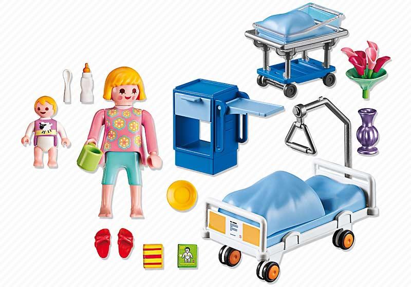 Contenido Real de Playmobil® 6660 Sala de Maternidad