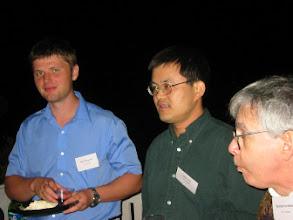 Photo: Assistant Professor Igor Kopylov and Professors Jack Xin and Bernie Grofman