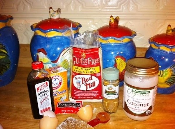 In a separate bowl, stir together the eggs, cooking oil and vanilla.  Add...