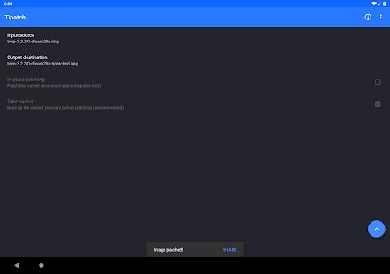 Tipatch • Backup internal storage 8